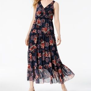 Style & Co. Ruffled Floral Maxi Dress